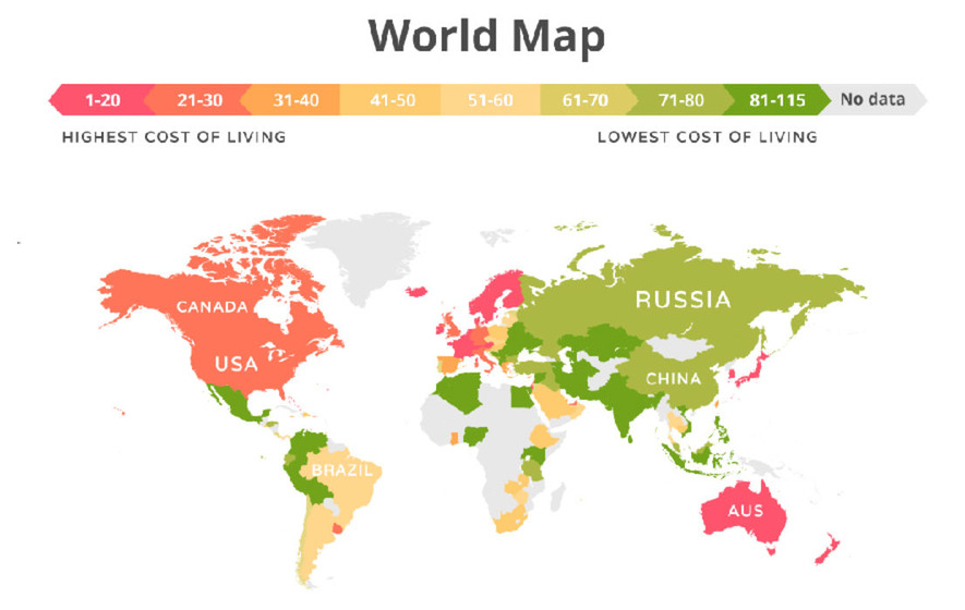 Maps show the most expensive countries in the world to live in the movehub a company that helps people emigrate has calculated which countries are most expensive to live in gumiabroncs Image collections