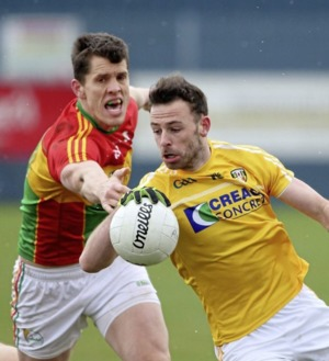 Antrim footballers hoping Carlow can rein in Laois