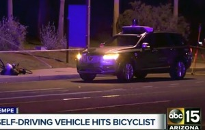 Woman struck and killed by self-driving Uber vehicle