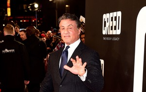 Keep punchin', Sylvester Stallone tells fans as he receives boxing gift