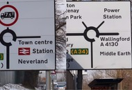 These signs in Didcot have been changed to include Gotham City, Narnia and Middle Earth