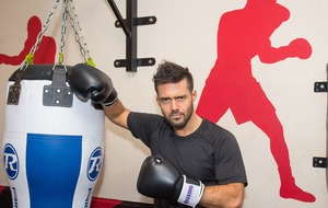 Spencer Matthews visits Boxing Academy in run up to Sport Relief bout