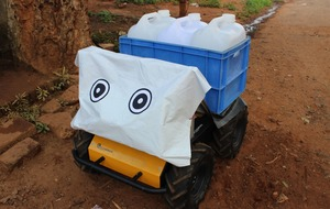 Robot helping with daily burden of carrying water in remote Indian village