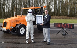 The Stig breaks world record in Matt LeBlanc-modified tractor on Top Gear