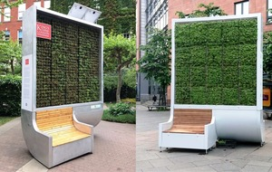 This pollution-absorbing bench can clean air with the power of 275 trees
