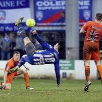 Coleraine aim for top spot in Carrick Rangers clash