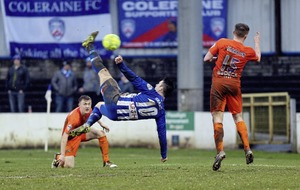 Coleraine aim for top spot in Carrick Rangers clash