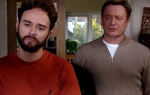 Corrie fans pleased as Martin Platt returns to comfort son David