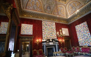 Damien Hirst finds perfect spot for new paintings at Houghton Hall