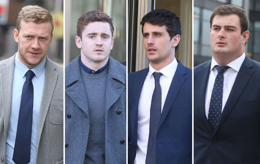 Ireland rugby internationals Paddy Jackson, Stuart Olding found not guilty of rape
