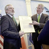 Families of IRA victims demand apology from New York mayor over 'Gerry Adams Day'