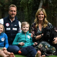 The calm before the storm: Ben Fogle relaxes with family ahead of Everest climb