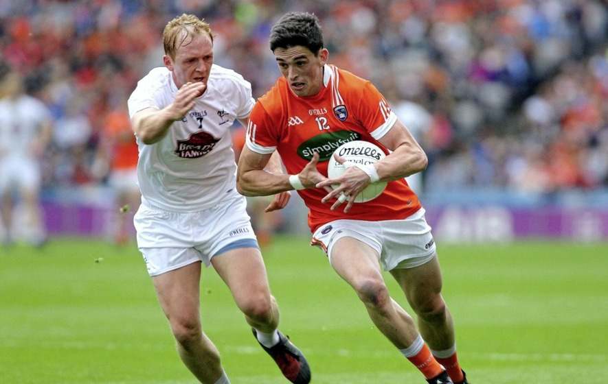 0b060bd1020c Rory Grugan   Armagh   and Keith Cribbin   Kildare   during Saturday nights  game in Croke Park 29th July 2017 Picture Seamus Loughran.
