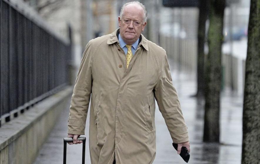 Prosecution barrister QC Toby Hedworth arrives at Laganside Court