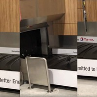 This pigeon in baggage reclaim will make you feel bad about your fitness routine