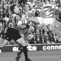 In The Irish News - Apr 9 1998: Henrik Larsson helps put Celtic in the SPL title frame