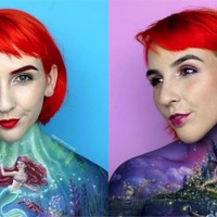 This artist is stunning social media by painting incredibly detailed designs onto her chest