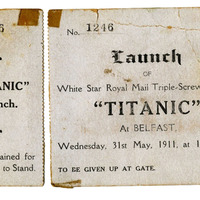 Ticket for Titanic could fetch £25,000 at auction