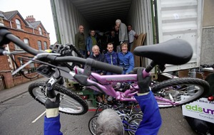 Belfast charity packs off another 400 used bikes to impoverished Madagascar