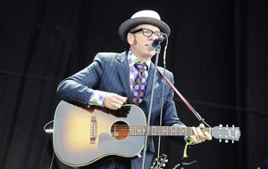 Elvis Costello says he's not looking to put his feet up any time soon