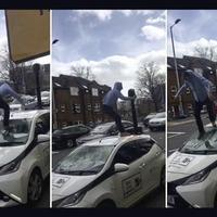 Police hunt for man in west Belfast bus lane camera car attack