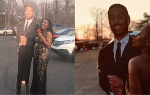 This girl took a cardboard cutout of Michael B Jordan to prom and the man himself was impressed