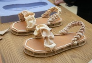 Researchers have created biodegradable shoes using mushrooms, chicken feathers and textile waste