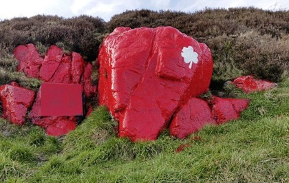 "Painting of Cave Hill white stone a ""deliberate act of vandalism"""