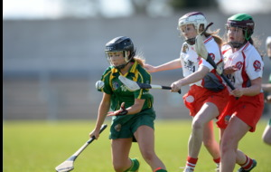 Lauren McKenna playing camogie through the pain barrier