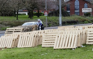 Roads officials withdraw from Belfast bonfire site after 'intimidation'
