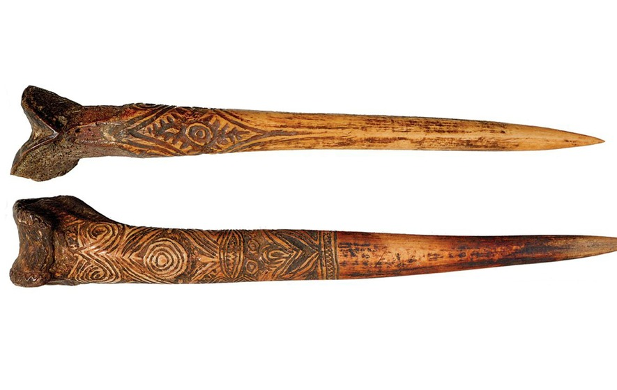 Human Bone Daggers Made By New Guinea People