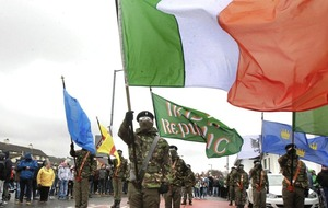 Eight men in court charged with taking part in an illegal dissident republican parade in Derry