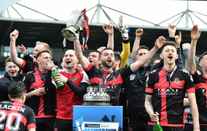 Crusaders pip Coleraine on dramatic last day of Irish Premiership title race
