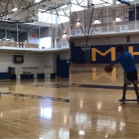 This teenager pulled off an insane basketball trick shot from a hoverboard