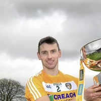 Simon McCrory guiding youngsters - in Antrim senior hurling panel