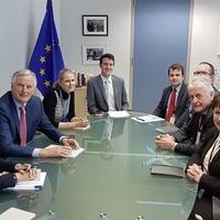 Michel Barnier meets unionist MEPs in Brussels
