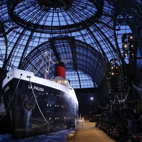 Stars swept away by spectacular Chanel fashion show featuring cruise ship