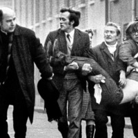 Hoax bomb target helped dying Bloody Sunday victim