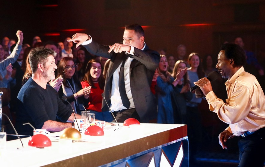 Judges dance and press golden buzzer for gyrating Britain's Got