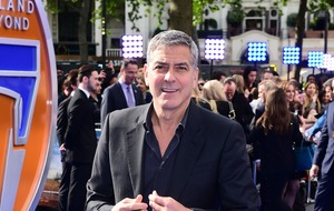 George Clooney downs tequila as he celebrates birthday