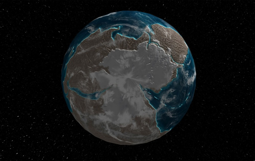 Interactive Map Shows What Earth Looked Like Million Years Ago - Interactive globe map
