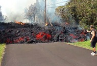 Watch: Awesome timelapse footage shows Hawaii lava flow devouring car