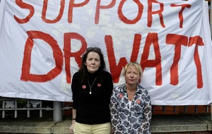 Patients rally in support of consultant neurologist Dr Michael Watt