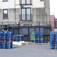 Bonfire pallets stacked in south Belfast car park