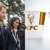 KFC has designed a limited-edition bucket for the royal wedding