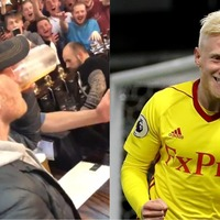 Watch Will Hughes down a pint with Derby fans in London