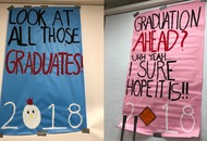 This student covered her school in graduation posters inspired by Vines