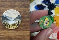 This woman creates tiny paintings on pennies and the results are gorgeous