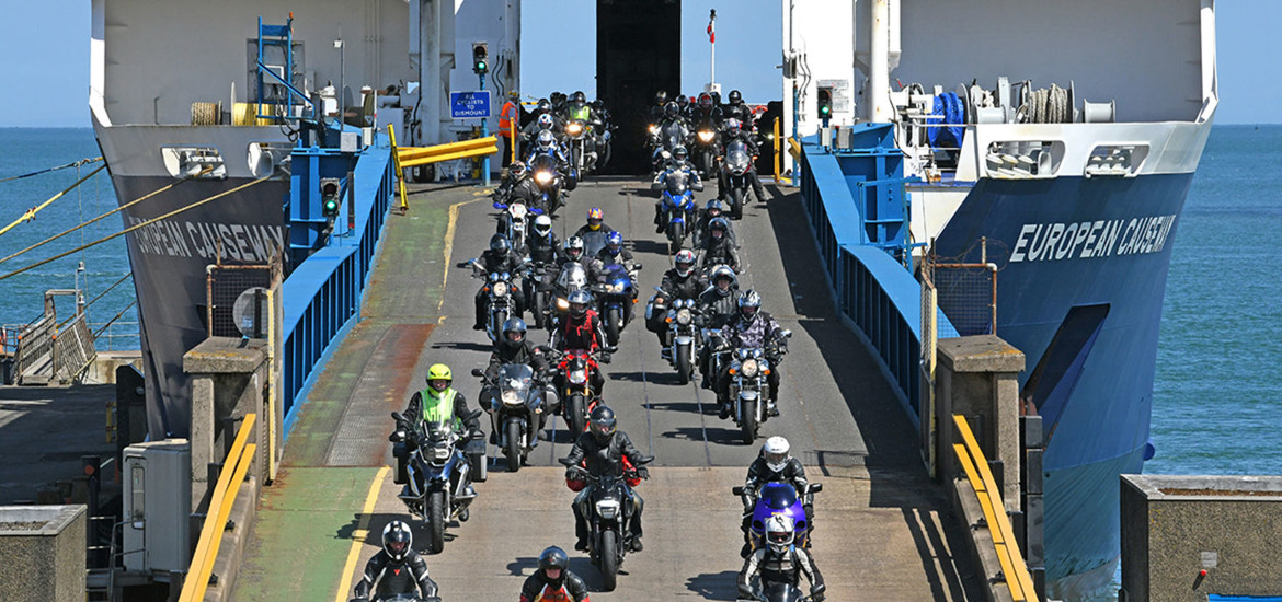 Bikers arrive for North West 200