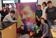 Neil deGrasse Tyson praises students' intricate Rubik's cube mosaic of his face